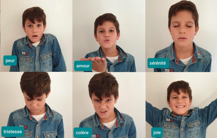 Planche d'émotions de Lucas